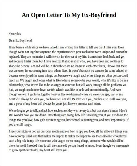 appreciation letter to ex an open letter to my boyfriend how to format cover letter