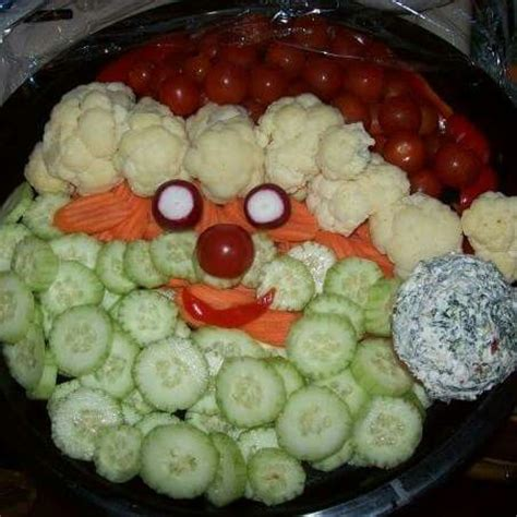 vegetable santa claus platter santa veggie tray for the holidays trays veggie tray and veggies