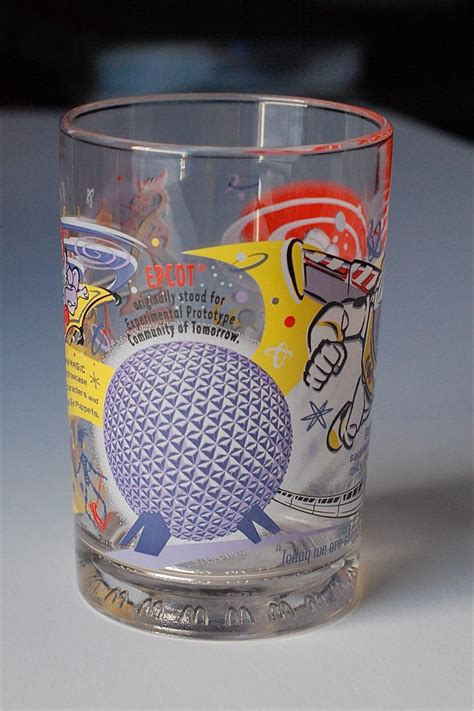 disney musings mcdonalds  years  magic disney glass set