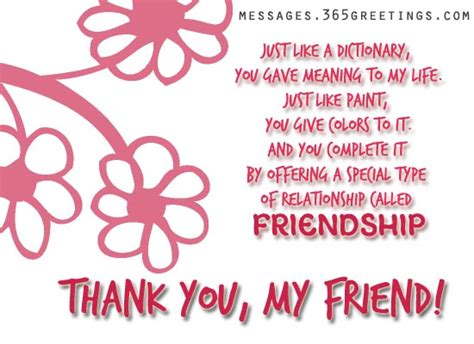 thank you letter to a friend for being there thank you messages 365greetings