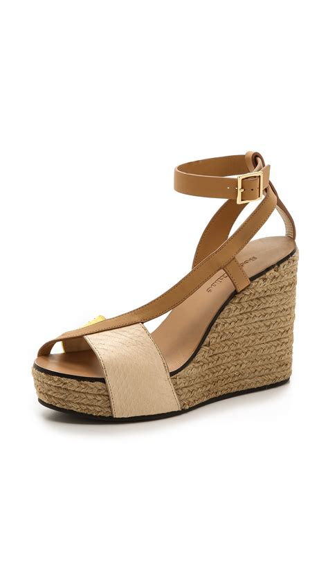 see by sandals see by chlo 233 cross espadrille wedge sandals in brown