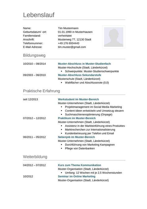Cv Schreiben Muster by 14 Cv Schreiben Muster Academy 4 Creating Enterprise