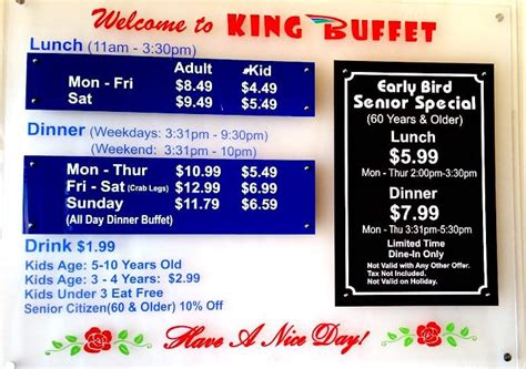 Buffet Prices Yelp King Buffet Prices