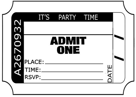 admit one ticket clipart new calendar template site