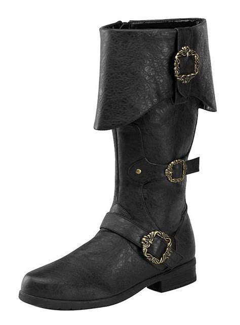 mens pirate boots deluxe pirate boots black
