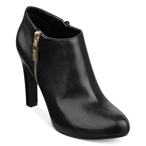 shooties boots marc fisher september shooties in black black leather lyst