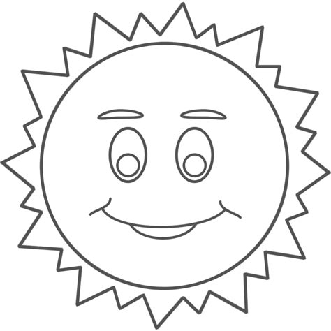 Sun Face Coloring Page | smiley sun faces coloring pages for kids coloring point