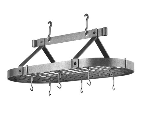 Enclume Traditional Oval Ceiling Pot Rack Williams Sonoma Pot And Pan Ceiling Rack