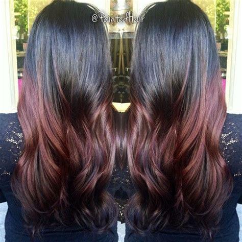 mahogany curls ombre long layered deep mahogany painted hair ombre нαιя