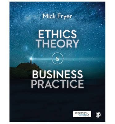 ethics in nonprofit organizations theory and practice books ethics theory and business practice mick fryer