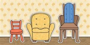 the beara chair goldilocks and the three bears chair cut outs