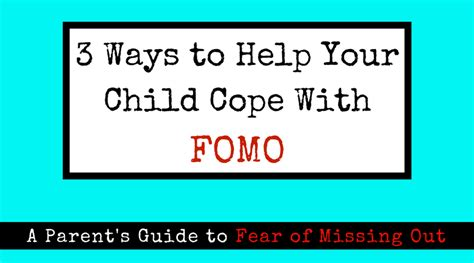 8 Ways To Help Your Child Deal With Your Divorce by 3 Ways To Help Your Child Cope With Fomo O