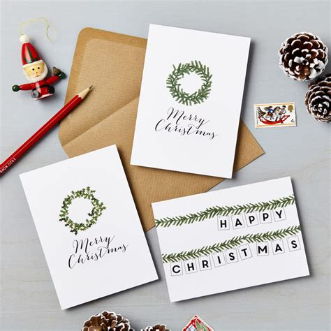 pack   illustrated wreath charity christmas cards lucy