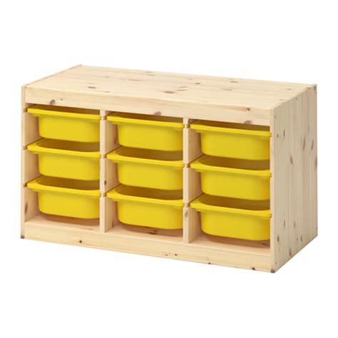 Childrens Storage Furniture by Trofast Storage Combination With Boxes Light White