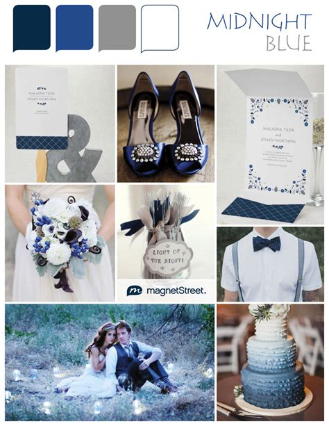 blue color palette wedding color monday midnight bluetruly engaging wedding