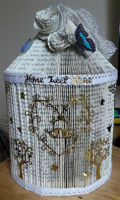 Paper Bird Cage Craft - 59 best images about book folding bird cages on