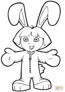 easter coloring pages dora easter dora coloring page free printable coloring pages