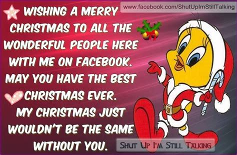 wishing  merry christmas    facebook tweety bird quote pictures   images