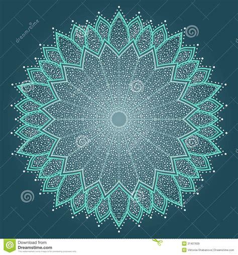 mandala beautiful hand drawn flower royalty free stock