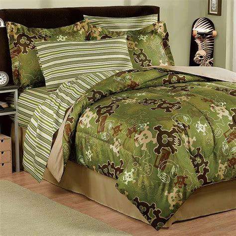 skull comforters street revival winged skull twin size 6 piece bed in a bag