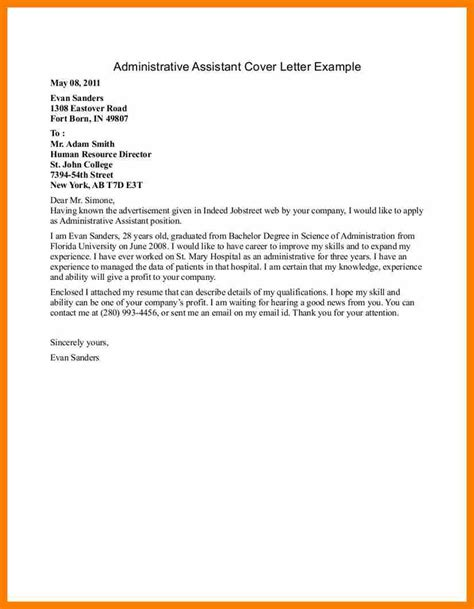 Resume And Cover Letter For Hostess 7 Cover Letter Exles For Admin Assistant Hostess Resume