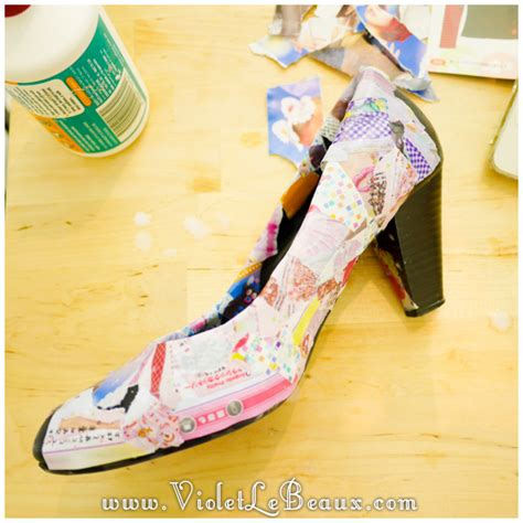 Diy Decoupage Shoes - how to diy decoupage shoes tutorial violet lebeaux