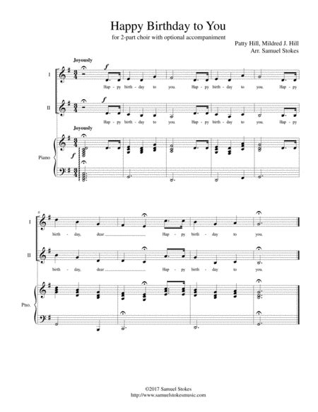 download happy birthday piano music mp3 download happy birthday to you for 2 part choir with
