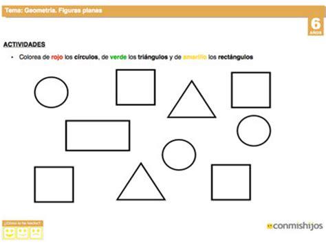 ejercicios de figuras geometricas las figuras planas ficha de geometr 237 a para ni 241 os