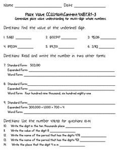 common 4th grade math worksheets 1000 images about teaching ideas on place value worksheets place values and tens