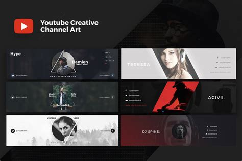 design cover photo for youtube 41 creative youtube banner templates