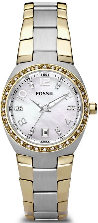 Fossil Am4183 s two tone fossil colleague crystallized am4183