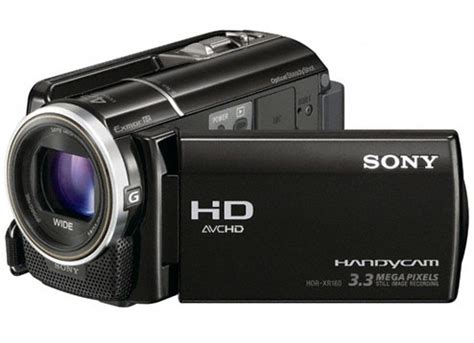 hd sony archived hdr xr160e disk drive hdd handycam