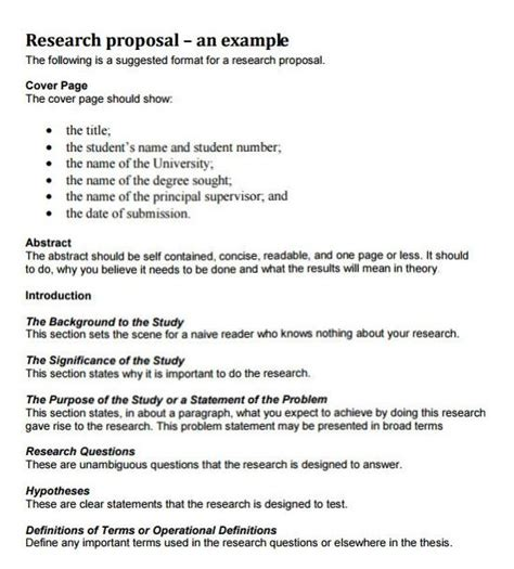format of research proposal writing how to write a research proposal with exles at kingessays 169