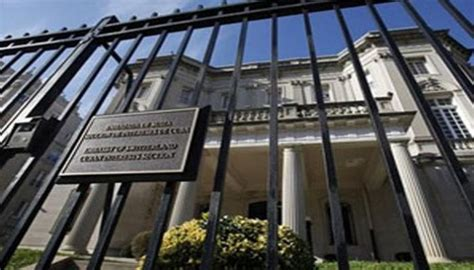 Cuban Section Of Interest In Washington by Cuba Announces Suspension Of Consular Services In U S