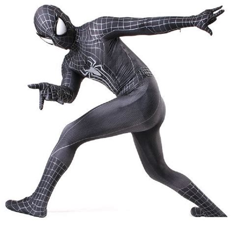 Kaos Civil War Spandex All Size Black black spider costume spandex 3d adulto mask custom amazing zentai