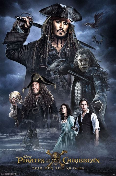 film blue pirates disney reveal 3 new pirates of the caribbean 5 posters