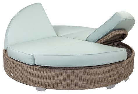 outdoor double chaise lounge cushions palisades round double chaise with sunbrella cushions