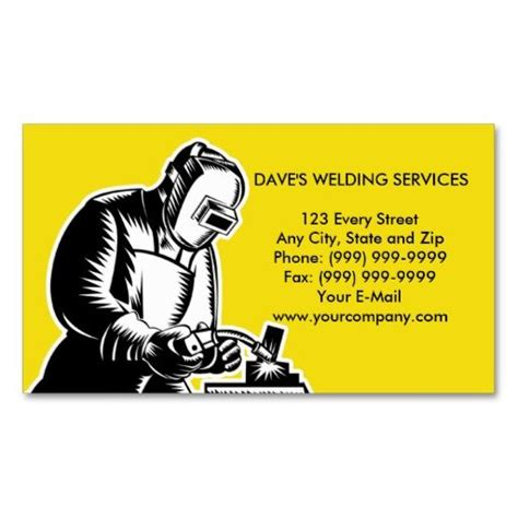 welder business cards templates welder welding businesscard business card welding tools