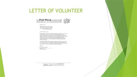 certification letter volunteer certificate slides volunteer