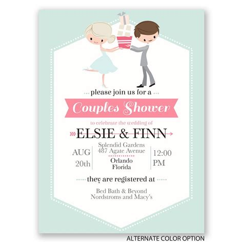 couples bridal shower wedding shower invitation invitations