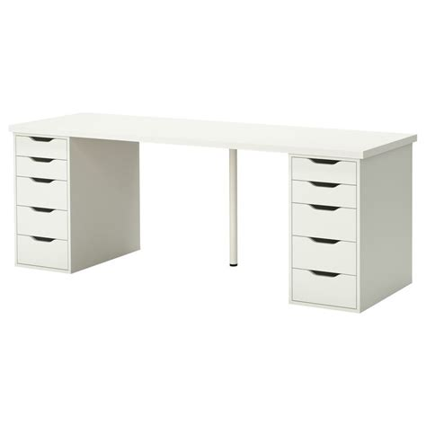 linnmon alex table white ikea tables and desks