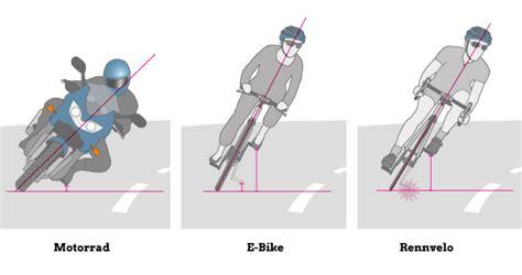 Motorrad Fahren Physik by E Bike Ratgeber Fahrphysik Kurvenfahren