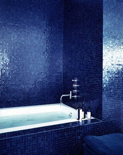 cobalt blue bathroom tile did you use blue grout here