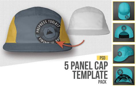 5 panel hat template the best 7 photo real hat and cap templates created prepress toolkit apparel templates