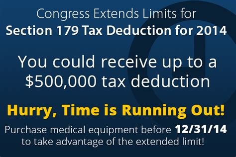 section 179 for 2014 congress extends 2014 limits for section 179 tax deduction