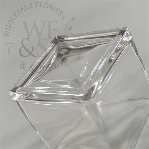 4 Square Vase by 4 Quot Square Glass Cube Vase Wholesale Flowers And Supplies
