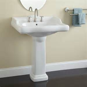 wide bathroom sinks large dawes porcelain pedestal sink pedestal sinks