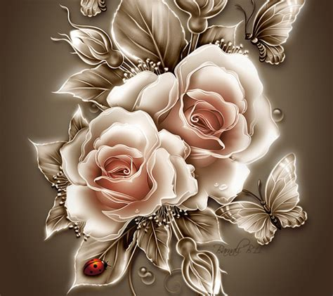 white roses tan background android central