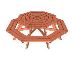 Octagon Patio Table Plans 20 Free Picnic Table Plans Enjoy Outdoor Meals With Friends Family Home And Gardening Ideas
