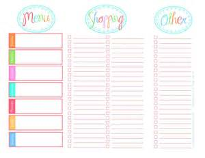 Weekly Meal Planner And Shopping List Template 20 Free Menu Planner Printables Fab N Free